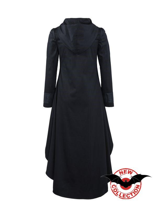 langes gothic kleid mit kapuze frauen lange kleider. Black Bedroom Furniture Sets. Home Design Ideas