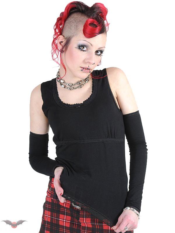 gothic damentop mit spitze und separaten rmeln frauen shirts und tops. Black Bedroom Furniture Sets. Home Design Ideas